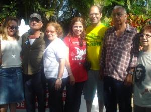Eu e Carlos com os ex-combatentes e mais amigas da excursão
