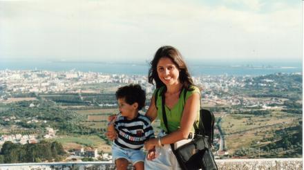 eu e João na Serra das Arrábidas - Portugal 1997