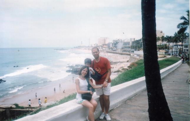 eu, João e Carlos, na orla de Salvador