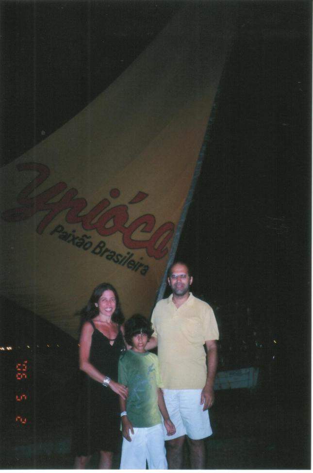 Eu Carlos e João na praia de Iracema